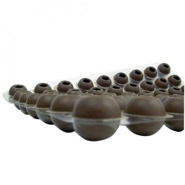 Trøffelkugler I Lys Chokolade