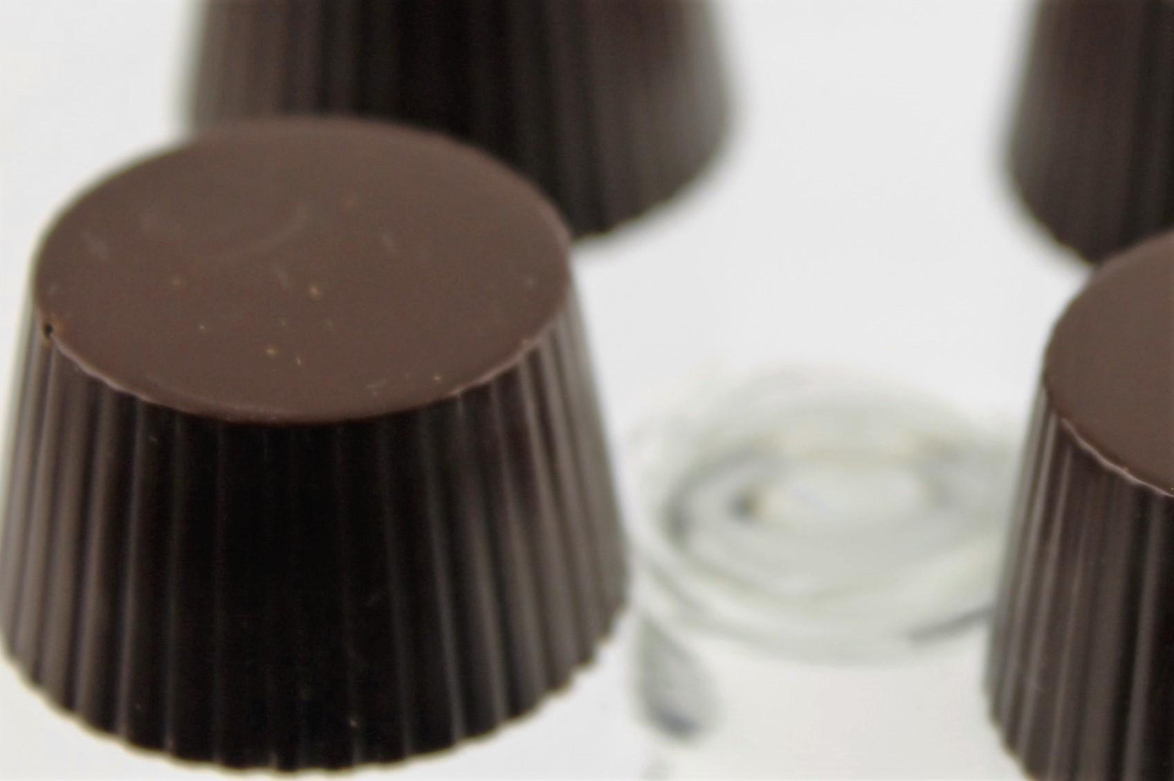 Chokoladeform rund m riller